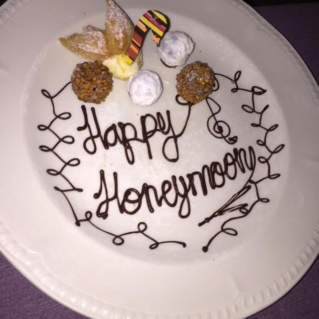 Happy honeymoon plate