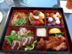 bento box lunch at polo grill