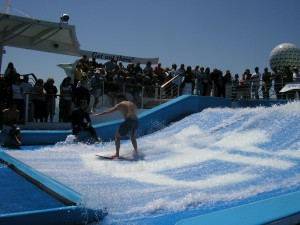 Flow rider aboard Liberty of the Seas