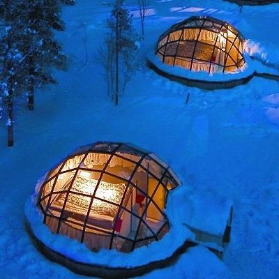 kakslauttanen-glass igloo