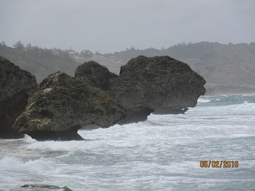 Rock Formation along Bathsheba Beach