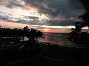 Sunset from our lanai at the Fairmont Orchid, Big Island