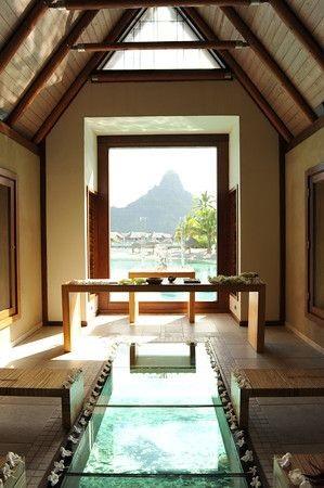 Intercontinental Bora Bora wedding chapel