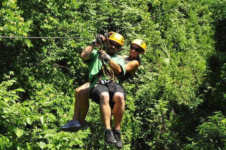 Ziplining in the Riviera Maya