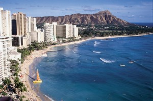 Waikiki with a View of Diamond Head Crater