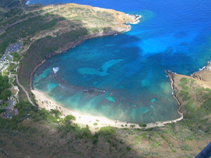 aerial view Hanauma_Bay