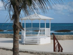Beachside wedding gazebo