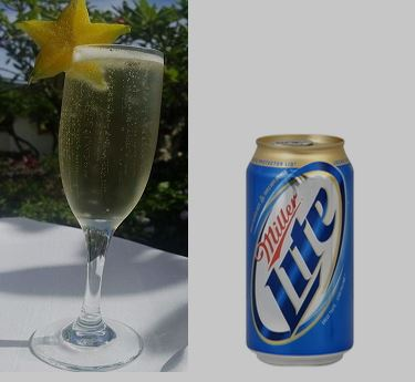champagne taste-beer budget