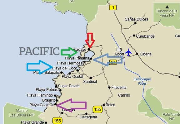 costa-rica-guanacaste-map