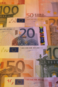 Collage of Euro Currency Bank Notes