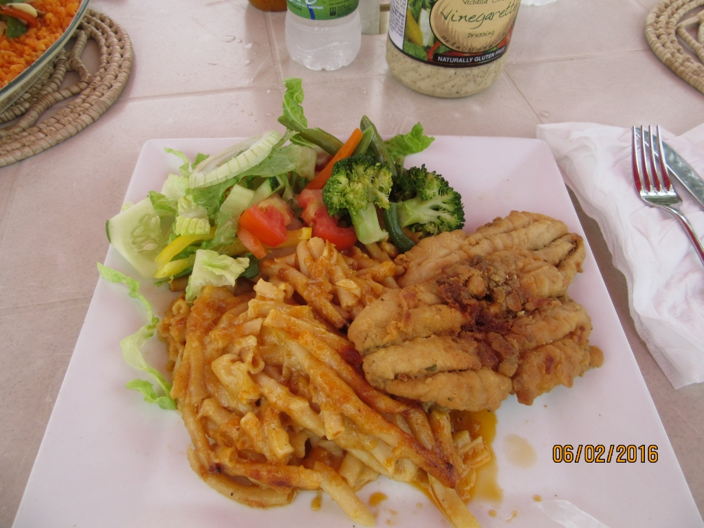 Flying Fish and Macaroni Pie