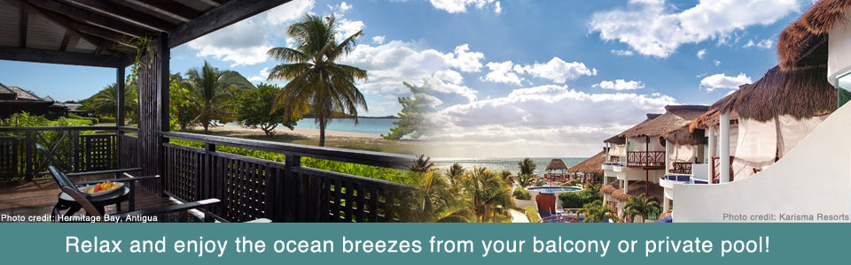 Relax and enjoy the ocean breezes from your balcony or private pool!
