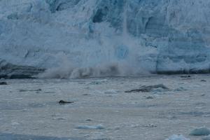 Calving in Hubbard Glacier