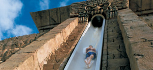 Leap of Faith water slide at the Atlantis Bahamas