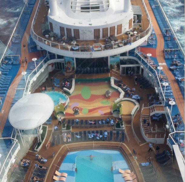 pool deck from the north star