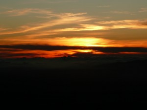 Sunset from the Visitors Center on Mauna Kea