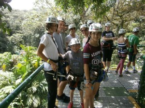 waiting for the zipline