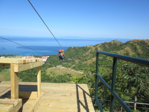 Ocean view Ziplining at the Diamonte Eco Adventure Park